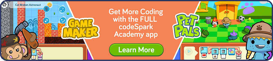 Learn more about the full codeSpark academy app